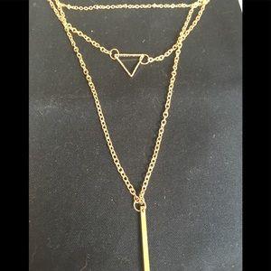 Jewelry - NWT Goldtone 3 strand necklace adjustable chain